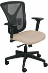 Fermata Executive Mesh Chair with Black Base - Flax Fabric [WMCEXFB-5821-FS-MVL]