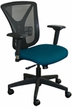 Fermata Executive Mesh Chair with Black Base - Iris Fabric [WMCEXFB-5820-FS-MVL]