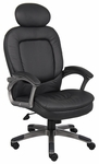 Executive Pillow Top Mid Back Task Chair with Headrest - Black [B7101-FS-BOSS]