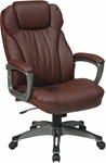 Work Smart Executive Eco Leather Chair with Built-In Adjustable Headrest - Wine [ECH85807-EC6-FS-OS]