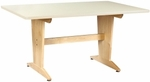 Extra Large Pedestal Table [PT-7248P-SHA]
