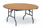 F Series Particleboard Core 48'' Diameter Round Folding Table - 29''H [R48F-MFT]