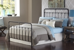 Fairfield Traditional Metal Bed with Frame - Queen - Dark Roast [B11065-FS-FBG]