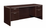 Fairplex Executive Kneehole Credenza with .75 Peds [7004-21Q-FS-DMI]