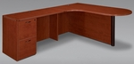 Fairplex Left Executive Corner Peninsula and Bullet L Desk - Cognac Cherry [7005-46ECP-FS-DMI]