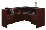 Fairplex Right or Left Reception Desk with .75 Peds [7004-6667Q-FS-DMI]