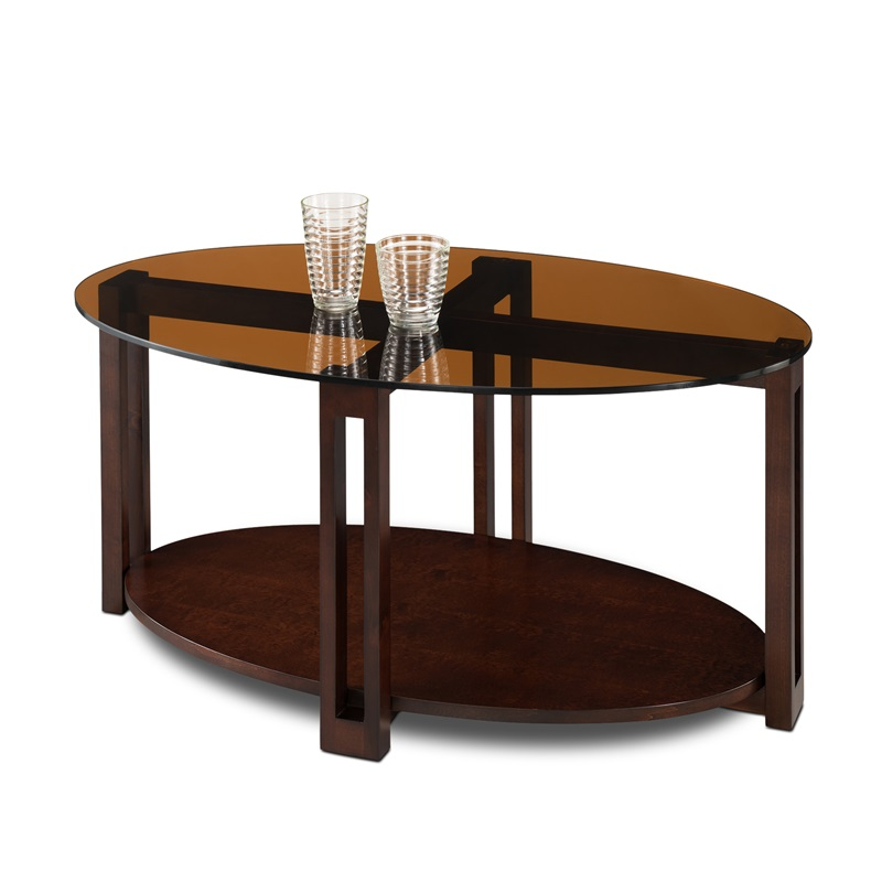 Favorite Finds 38 39 39 W X 19 39 39 H Contemporary Oval Solid Wood Coffee Table With Bronze Glass Top