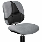 Fellowes® Professional Series Back Support - Memory Foam Cushion - Black [FEL8037601-FS-NAT]