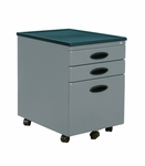 Mobile 15.75''W 22''D Locking 3 Drawer File Cabinet - Silver and Black [51102-FS-SDI]