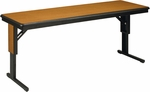 CTLF Series Fixed Height Particleboard Core Training Table - 18''W x 60''L x 29''H [CTL185F-MFT]