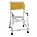 Flared Stability Base Shower Chair with 3'' Rust Proof Threaded Stem Casters - 26''W X 18''D X 40''H [118-3TW-FS-MJM]
