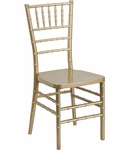 HERCULES PREMIUM Series Gold Resin Stacking Chiavari Chair with Free Cushion [LE-GOLD-GG]