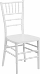 HERCULES PREMIUM Series White Resin Stacking Chiavari Chair with Free Cushion [LE-WHITE-GG]
