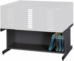 20'' H Steel Flat File High Base for 4996 and 4986 Series - Black [4977BL-FS-SAF]