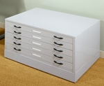 5 Drawer Steel Flat File 40.75''W x 28.5''D Storage Cabinet - Light Gray [60724-FS-SDI]