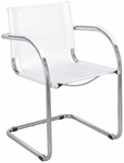 Flaunt™ 21.5'' W x 23'' D x 31.75'' H Leather Guest Chair - White [3457WH-FS-SAF]