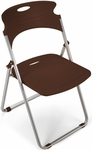 Flexure Folding Chair with Polypropylene Seat and Back - Chocolate [303-P19-MFO]