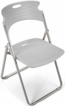 Flexure Folding Chair with Polypropylene Seat and Back - Dove Gray [303-P01-MFO]