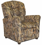 Kids Recliner with Button Tufted Back - Flooded Timber [400-FLOODED-TIMBER-FS-BZ]