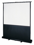 Floor Mounted Pull Up ImagePro Screen in Steel Housing and Legs - 80''W x 5''D x 80''H [DUKV64X48-DUK]
