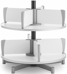 Moll 2 -Tier Rotary Floor Stand Binder Carousel - White [CL2-80-FS-EOS]
