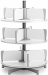 Moll 3 -Tier Rotary Floor Stand Binder Carousel - White [CL3-80-FS-EOS]