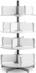 Moll 4 -Tier Rotary Floor Stand Binder Carousel - White [CL4-80-FS-EOS]