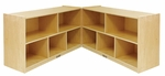 Birch 24''H Mobile Fold and Lock Cabinet with Ten 12'' Deep Compartments - Natural Finish [ELR-0422-ECR]