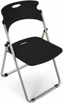 Flexure Folding Chair with Polypropylene Seat and Back - Black [303-P0-MFO]