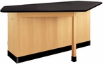 Forward Vision II Wooden Workstation with 1'' Thick Black Phenolic Resin Top - 88''W x 46''D x 36''H [2944KF-DW]