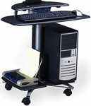 FPD Mobile Computer Table with Raised Flat Panel Platform - Anthracite [948ANT-FS-MAY]