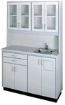 Free-Standing Cabinet Unit with Sink - 49.5''W X 18''L X 77''H [HAU-GLR-A1-FS-HAUS]