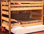 Rustic Style Solid Pine Bunk Bed - Full - Cinnamon [3544144-4739-FS-CHEL]