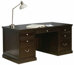 kathy ireland Home™ Fulton Collection 68''W x 30''H Double Pedestal Executive Desk -Espresso [FL680-FS-KIMF]