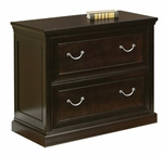 kathy ireland Home™ Fulton Collection 32''W x 30''H Two Drawer Lateral File -Espresso [FL450-FS-KIMF]