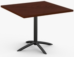 Fusion 1 Day Quick Ship 42'' x 42'' Breakroom Table with Arched Single Column X-Base [1D-FUSN-4242-SPT]
