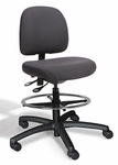 Fusion Large Back Mid-Height Drafting Chair - 4 Way Control [FSLM4-FS-CRA]
