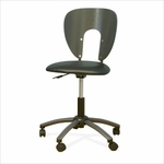 Futura Height Adjustable Office Chair with Metal 5 Star Base and Casters - Pewter and Black [10657-FS-SDI]
