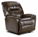 Gennessee Transitional Style Bonded Leather Power Recliner - Bently Brown [189350-9075-PWR-FS-CHEL]