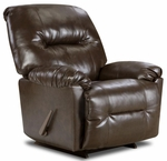 Gennessee Transitional Style Polyester Recliner - Bently Brown [189350-9075-FS-CHEL]