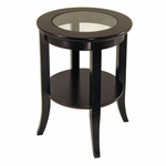 Genoa End Table with Glass Inset [92218-FS-WWT]