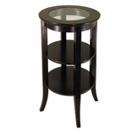 Genoa Side Table with Glass Inset [92318-FS-WWT]