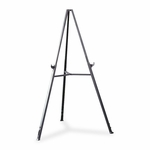Ghent Triumph Display Easel with Retractable Legs - Extends 37'' - 62'' -Gray [GHE19250-FS-SP]