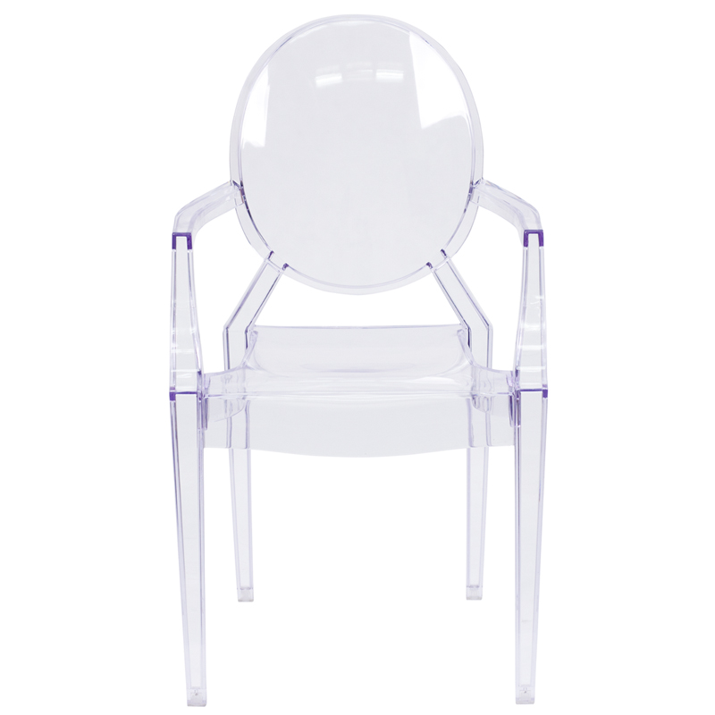 Ghost Chair with Arms in Transparent Crystal FH124APCCLRGG by