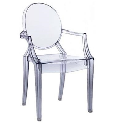 Ghost chair with arms rpc ghost arms by commercial - Chaise transparente elizabeth ...