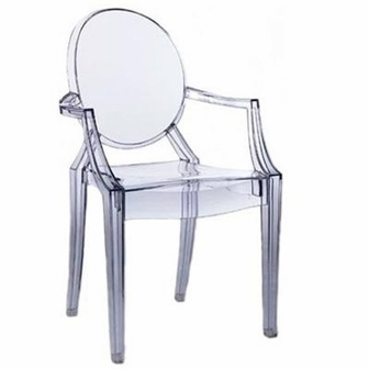 Ghost chair with arms rpc ghost arms by commercial - Chaise transparente pas cher ikea ...