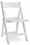 Gala Resin Steel Reinforced Stackable Folding Chair with Padded Seat - White [77100-MCC]