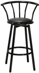 Gloss Black Crown Back Barstool [6200-HND]