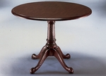 Governors 42'' Round Conference Table - Engraved Executive Mahogany [7350-89-FS-DMI]