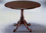 Governors 48'' Round Conference Table - Engraved Executive Mahogany [7350-90-FS-DMI]